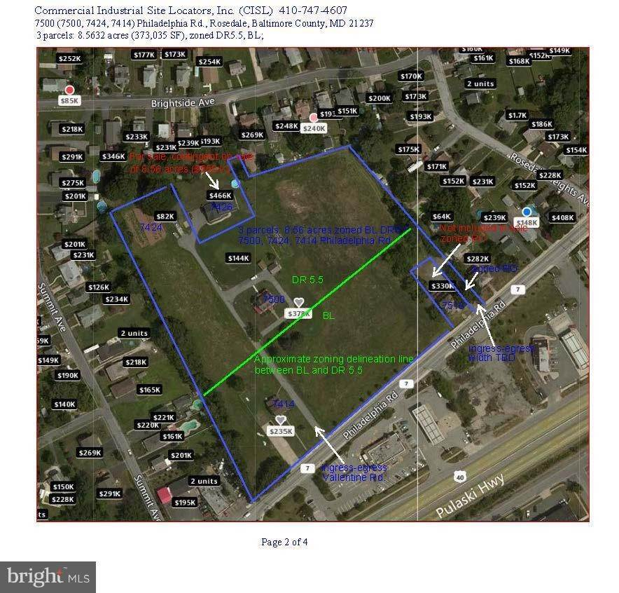 Land for Sale at 7500 PHILADELPHIA RD Baltimore, Maryland 21237 United States